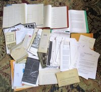 ARCHIVE of BAILHACHE FAMILY GENEALOGY Ephemera Letters Notebooks Documents Research Papers Wills etc. by Bailhache Family