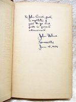 "1939 JOHN HOLMES ""The POET'S Work"" SIGNED & INSCRIBED to his then Student JOHN CIARDI a Presentation Copy by John Holmes"