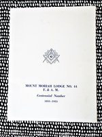 History MOUNT MORIAH LODGE, SAN FRANCISCO FREEMASONS 1953-1953 Masonry Masonic