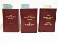 Genealogy HOOPES - HOOPS FAMILY RECORD for NINE GENERATIONS Rare 3 VOLUME SET of the Descendants of Daniel Hoopes of Chester County, Pennsylvania by Compiled and Edited by June Markus Hoopes and Gerald R. Fuller.