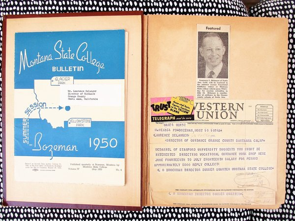 1950 SCRAPBOOK Road Trip SANTA ANA, CA to BOZEMAN, MT w/ PHOTOS, HANDWRITTEN DIARY NOTES by LAURENCE L. BELANGER