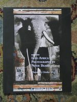 INTO AFRICA PHOTOGRAPHS by PETER BEARD Christie's Auction Catalog 2013