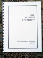 1998 HOUSING INVENTORY of SAN FRANCISCO City Planning Department by SAN FRANCISCO PLANNING DEPARTMENT