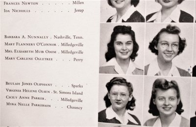1944 FLANNERY O'CONNOR COLLEGE YEARBOOK Her Name, Photo & Drawings Throughout by Flannery O'Connor