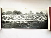 1947-1951 THREE JEWISH SUMMER CAMP PANORAMIC PHOTOS with 165 NAMES Camp Raleigh-Maccabee and Camp Leonore