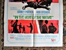 Another image of 1967 IN THE HEAT OF THE NIGHT Original 1 SHEET Film POSTER Rod STEIGER Sidney POITIER
