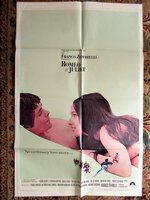 Two ROMEO & JULIET Original 1 SHEET Film POSTERS Franco Zeffirelli OLIVIA HUSSEY