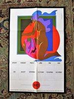 JOHN ALCORN Poster Calendar PSYCHEDELIC NUDE WOMAN Sanders Printing Promo 1970
