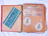 1937-1938 SCRAPBOOK of HAWAIIANA & STEAMSHIP TRAVEL to/from HAWAII including USN Stuff