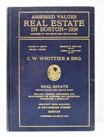 1954 ASSESSED VALUE of EVERY PROPERTY in BOSTON Real Estate Land & Building Values by Street Address by Boston Real Estate Board