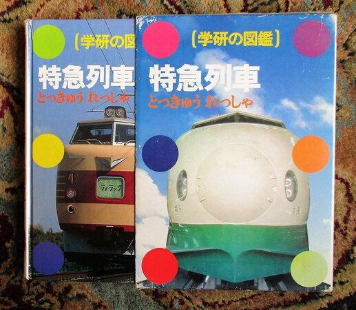 Vintage JAPAN EXPRESS TRAINS Japanese Book in Slipcase FULLY ILLUSTRATED Rails Railways 1982