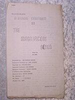 THE MAGNIFICENT SEVEN Original 1960 DIALOGUE CONTINUITY SCREENPLAY Script by William Roberts, Akira Kurosawa, et al
