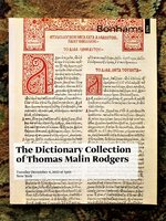 Antiquarian DICTIONARY COLLECTION of THOMAS MALIN RODGERS Bonhams Catalog 2012