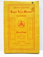1929 ROYAL ARCH MASONS 75th Annual Convocation Masonic Temple, SAN FRANCISCO