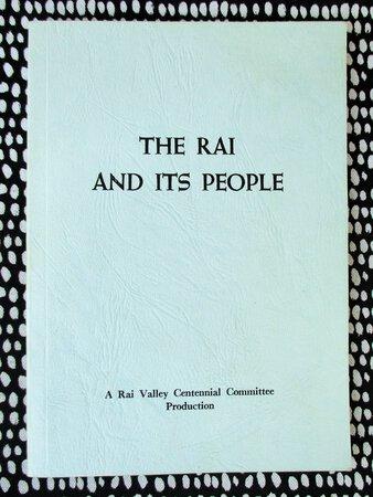 RAI VALLEY, NEW ZEALAND Centennial History 1881-1981 ILLUSTRATED by Rai Valley Centennial Committee