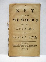 1714 A KEY to the MEMOIRS of the AFFAIRS of SCOTLAND First Edition Booklet