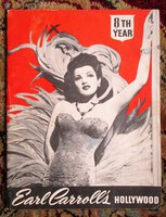 1946 EARL CARROLL'S HOLLYWOOD Pin-Up Showgirls on Stage PROGRAM Beryl Wallace by Earl Carroll