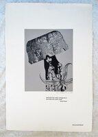 "DONALD BARTHELME DESIGNED, ILLUSTRATED & SIGNED BROADSIDE ""BRIDE"" 1980 by Donald Barthelme"