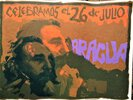 Another image of 1979 NICARAGUA / CUBA REVOLUTION POSTER *CELEBRAMOS EL 26 DE JULIO* FIDEL CASTRO