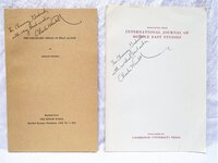 Two Booklets BAGHDAD: IMAGO MUNDI + PRE-ISLAMIC SIRAT AL-NABI Charles Wendell **SIGNED & INSCRIBED** 1971-1972 by Charles Wendell