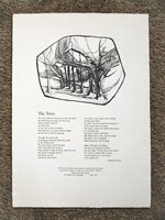 "ADRIENNE RICH BROADSIDE POEM ""THE TREES"" 1 of 75 LOWELL HOUSE PRINTERS The College Yard, Cambridge 1964 by Adrienne Rich"
