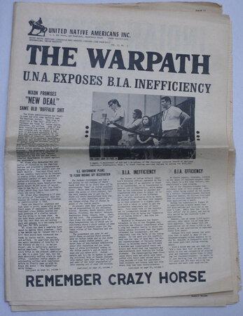 1970 Radical UNDERGROUND Militant INDIAN POWER Scarce San Francisco Protest Zine WARPATH by Lehman Brightman, editor