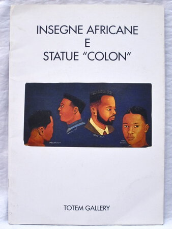 AFRICAN SIGNBOARDS AND COLON STATUES BARBERSHOP Hairdresser SIGNS & Colonial STATUES Rare AFRICAN FOLK ART Catalogue
