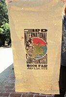 1975 Original THIRD ANNUAL INTERNATIONAL SAN FRANCISCO BOOK FAIR POSTER / BANNER