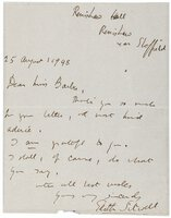 1948 EDITH SITWELL HANDWRITTEN LETTER to Elizabeth Barber (U.K. Society of Authors) by Edith Sitwell