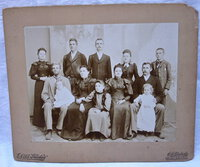 Antique 1890 NAPA VALLEY FAMILY Large Cabinet Card Photo ST. HELENA STUDIO