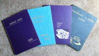 1956-1959 MEDICAL VIOLET - FOUR YEARBOOKS - NEW YORK UNIVERSITY COLLEGE OF MEDICINE
