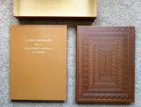 LA BIBLE MORALISÉE DE LA BIBLIOTHÈQUE NATIONALE D'AUTRICHE Codex Vindobonensis 2554 / Facsimile of the ILLUMINATED BIBLE in the AUSTRIAN NATIONAL LIBRARY Two Volumes in Clamshell Case LIMITED & NUMBERED #663 of 2000 by Commentary by Reiner Haussherr