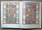 Another image of LA BIBLE MORALISÉE DE LA BIBLIOTHÈQUE NATIONALE D'AUTRICHE Codex Vindobonensis 2554 / Facsimile of the ILLUMINATED BIBLE in the AUSTRIAN NATIONAL LIBRARY Two Volumes in Clamshell Case LIMITED & NUMBERED #663 of 2000 by Commentary by Reiner Haussherr