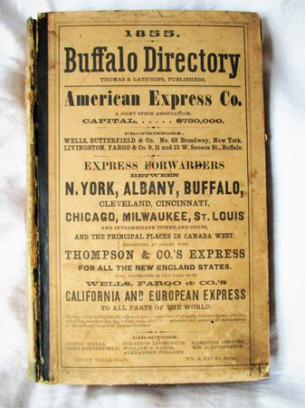 1855 BUFFALO, NEW YORK, CITY DIRECTORY with EVERY RESIDENT & BUSINESS + Cool Ads