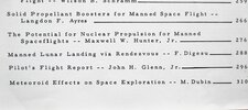 Another image of 1962 TECHNICAL PAPERS on MANNED SPACE FLIGHT w/ JOHN GLENN SPACE FLIGHT REPORT by John Glenn, Jr., et al