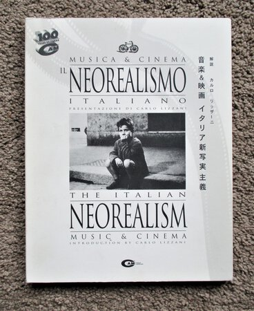 ITALIAN NEOREALISM CINEMA & MUSIC - Illustrated BOOK with 2 CDs of MUSIC Composed for the NEOREALISTIC FILMS of ITALY Presented in the Book 1995 by Introduction by Carlo Lizzani