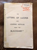 "1933 Fascist LETTERS OF LUCIFER ""THE BLACKSHIRT"" How FASCISM will SAVE ENGLAND'S Economy, Unemployment, Urban Troubles & Immigration Problem"