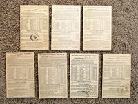 7 Postcards RAILWAY CONDUCTORS OF AMERICA DEATHS & DISMEMBERMENTS 1895-1898