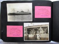 1929 Photo Album / Scapbook FIRST CLASS OCEAN LINER TOUR of ASIA w/ 225 ITEMS including 100 Original PHOTOGRAPHS by Gertrude Rice and Sanford Rice