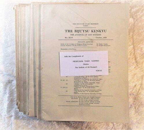 15 Vintage Issues THE BIJUTSU KENKYU Journal of ART STUDIES Japanese & Asian Art 1939-40 ILLUSTRATED Published in TOKYO