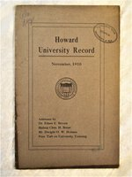 1910 HOWARD UNIVERSITY Historic BLACK College ADDRESSES by PRESIDENT TAFT & Others RE: Reparations for African-Americans by Dwight O.W. Holmes, President Taft, et al