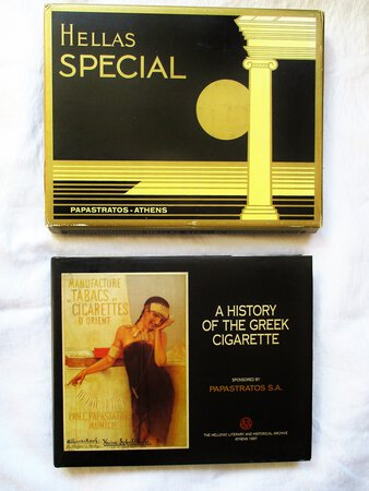 HISTORY of the GREEK CIGARETTE Fully ILLUSTRATED with GRAPHIC ART of Packages, Advertising, Cigarette Cards, etc. by Penelope Giakoumakis and Manos Haritatos