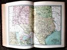 Another image of 1873 DESCRIPTIVE HAND ATLAS OF THE WORLD with 35 COLOR MAPS Zell Philadelphia by John Bartholomew