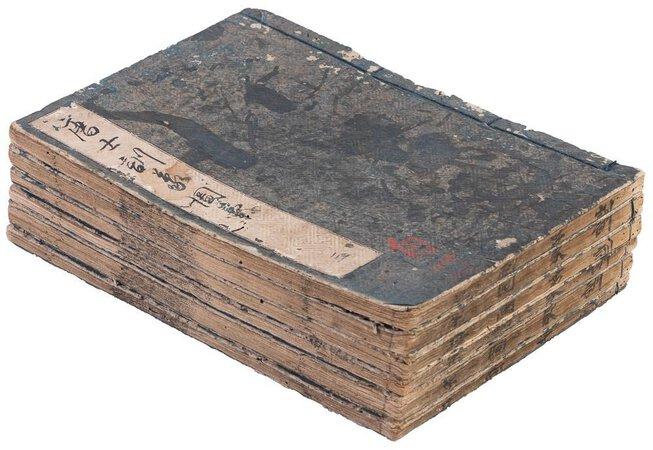 1719 ILLUSTRATED ENCYCLOPEDIA of CHINA / MOROKOSHI KINMO ZUI - SIX JAPANESE WOODBLOCK PRINTED BOOKS by Sen'an Hirazumi
