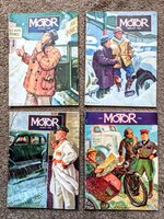 1940 MOTOR - THE AUTOMOTIVE BUSINESS MAGAZINE **EIGHT ISSUES** Great Covers Art by Robert Robertson, Great Ads