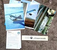 1974 CONCORDE SUPERSONIC JET - TEST FLIGHT INFO SHEETS & LARGE PUBLICITY PHOTOS