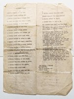 1943 WORLD WAR II SOLDIER DREAMS of SEX - Original One Page Typed Letter by Private Harlan E. Feyler
