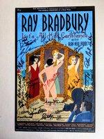 SIGNED POSTER from RAY BRADBURY'S PANDEMONIUM THEATRE - LET'S ALL KILL CONSTANCE - Signed by BRADBURY and CAST by Ray Bradbury