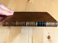 1835 THESAURUS - ENGLISH SYNONYMS Writer's Assistant FINE BINDING Leather & Gilt Dentelle