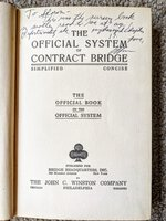 WARREN BUFFETT Book on Contract Bridge SIGNED & LOVINGLY INSCRIBED to HIS BRIDGE PARTNER and GOOD FRIEND